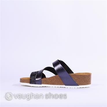 Ara Strappy Sandal Bali - Navy Glitter