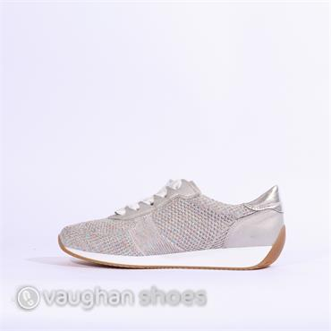 Ara Knitted Ribbon Lace Trainer Lissabon - Silver Multi