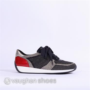 Ara Knitted Ribbon Lace Trainer Lissabon - Navy Multi