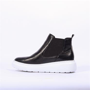 Ara Lausanne Gusset Boot - Black Leather