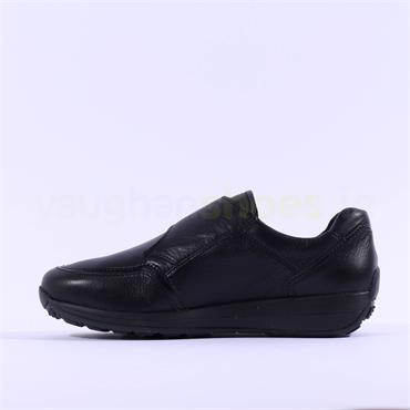 Ara Merano Comfort Velcro Strap Shoe - Black Leather