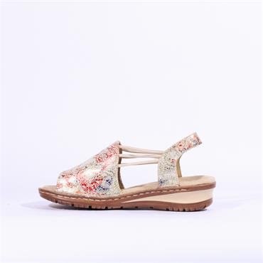 Ara Thin Strap Floral Sandal Hawaii - Multi