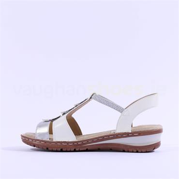 Ara Hawaii Sling Back Sandal Plates - White Silver