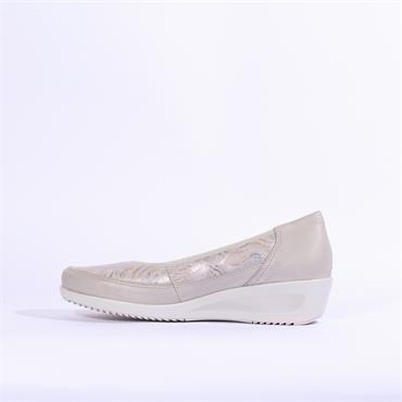 Ara Zurich  Wedge Shoe Printed Upper - Grey Combi