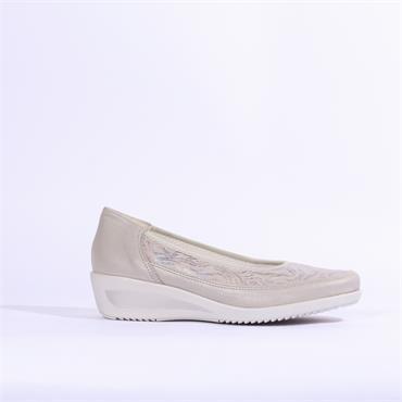 Ara Zurich  Wedge Shoe Printed Upper - Grey Combi
