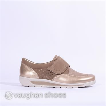 Ara Meran Two Tone Shoe Velcro Strap - Platinum Taupe