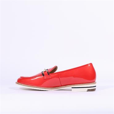 Ara Slip On Loafer With Buckle Kent - Coral