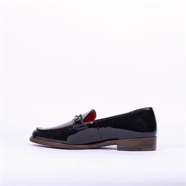 Ara Slip On Loafer With Buckle Kent - Dark Navy