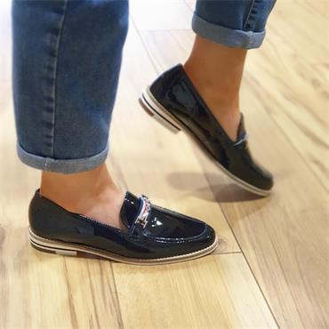 Ara Kent Slip on Loafer - Navy Patent
