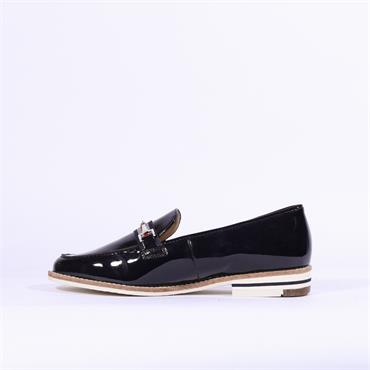 Ara Slip On Loafer With Buckle Kent - Navy