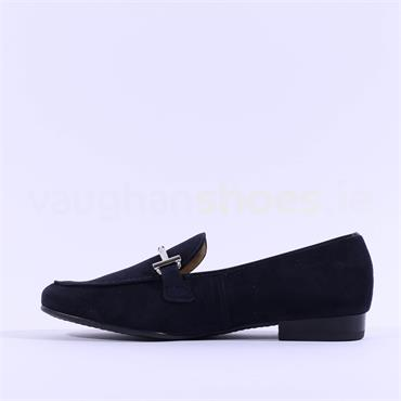 Ara Slip On Loafer With Buckle Kent - Navy Suede