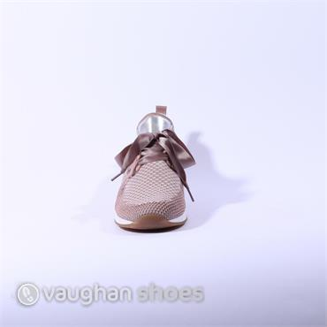 Ara Laced Runner With Knitted Upper - Rose Gold