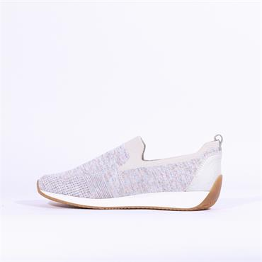 Ara Knitted Slip On Trainer Issabon - Grey Fabric