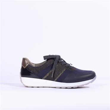 Ara Osaka Lace Up Trainer - Navy Combi