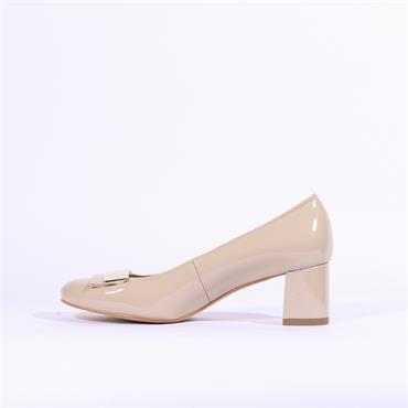 Ara Brighton Block Heel Court Shoe - Nude
