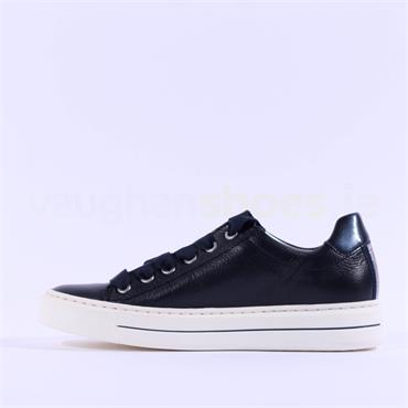 Ara Courtyard Ribbon Laced Trainer - Navy Leather