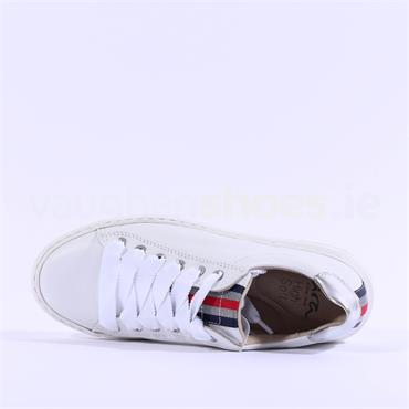 Ara Courtyard Ribbon Laced Trainer - White Leather