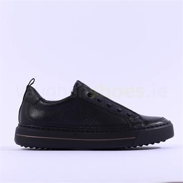 Ara Courtyard Slip On Stretch Band Shoe - Black Leather