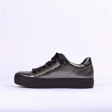 Ara Courtyard Ribbon Lace Trainer - Dark Grey