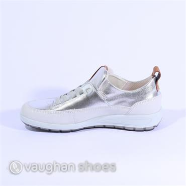 Ara Elasticated Lace Slip On Shoe - Silver Cream