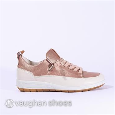 Ara Elasticated Lace Slip On Shoe - Rose