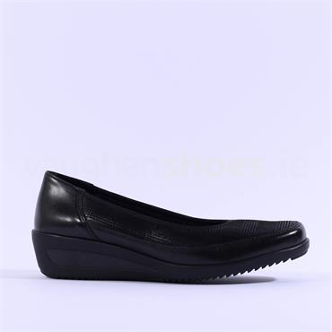 Ara Zurich Slip On Low Wedge - Black