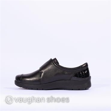Ara Comfort Shoe Croc/leather Velcro - Black