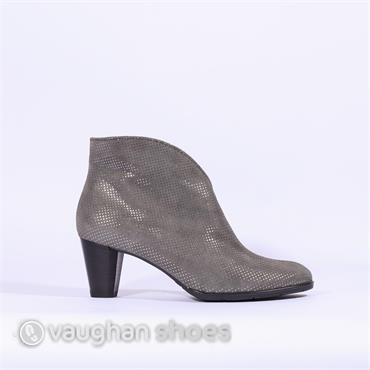Ara High Heel Suede Cut Boot - Grey