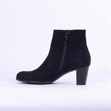 Ara Toulouse Gusset Panel Ankle Boot - Navy Suede