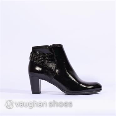 Ara High Heel Boot With Link Detail - Black