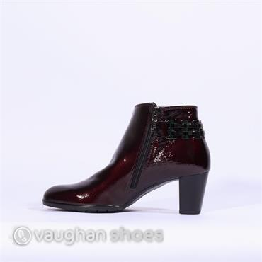 Ara High Heel Boot With Link Detail - Wine