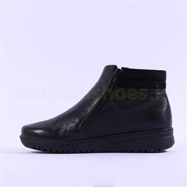 Ara Dakota Twin Zip Comfort Boot - Black Leather