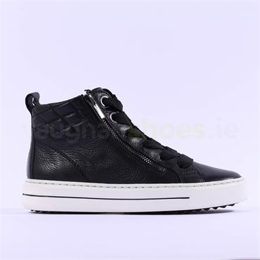 Ara Courtyard Twin Zip Laced Boot - Black Leather