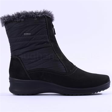 Ara Fur Lined GoreTex Boot Munchen - Black