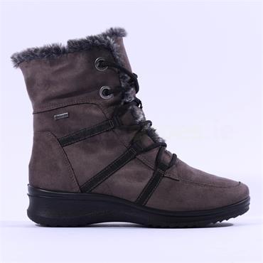 Ara Munchen Fur Lined Rope GoreTex Boot - Grey Nubuck