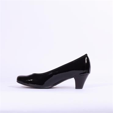 Ara Auckland Patent Court Shoe - Black