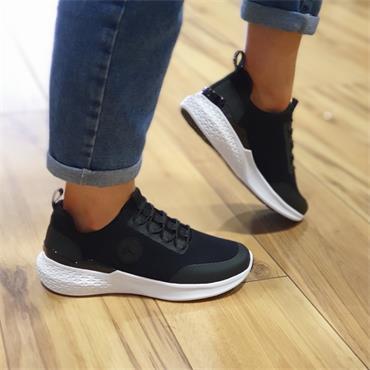 Ara Maya Elastic Lace Comfort Trainer - Black Fabric