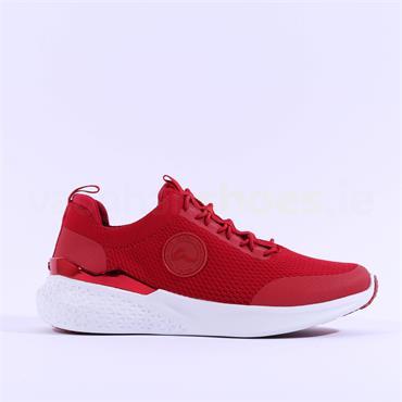 Ara Maya Elastic Lace Comfort Trainer - Red Fabric