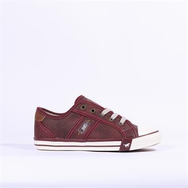 Mustang Laced Casual Shoe - Bordo