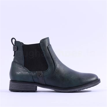 Mustang Flat Chelsea Ankle Boot - Petrol