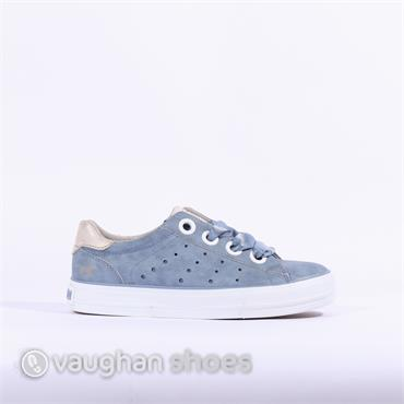 Mustang Casual Trainer Ribbon Lace - Blue