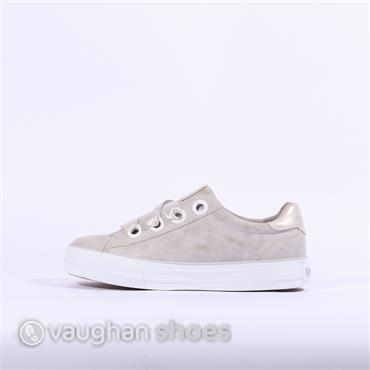 Mustang Casual Trainer Ribbon Lace - Light Grey