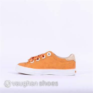 Mustang Casual Trainer Ribbon Lace - Orange