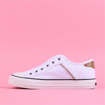 Mustang Casual Slip On Canvas Trainer - White