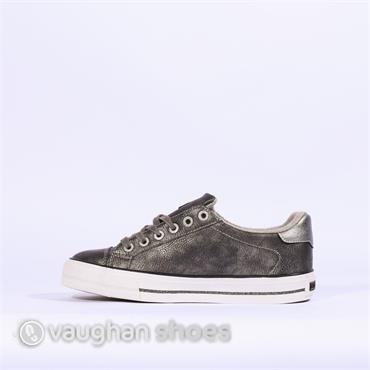 Mustang Laced Shoe With Stars - Grey