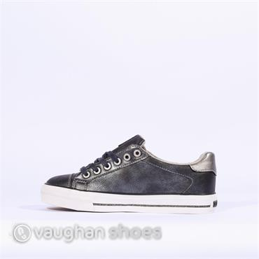 Mustang Laced Shoe With Stars - Navy
