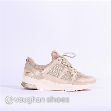 Mustang Chunky Laced Casual Trainer - Beige