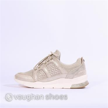 Mustang Chunky Laced Casual Trainer - Champagne