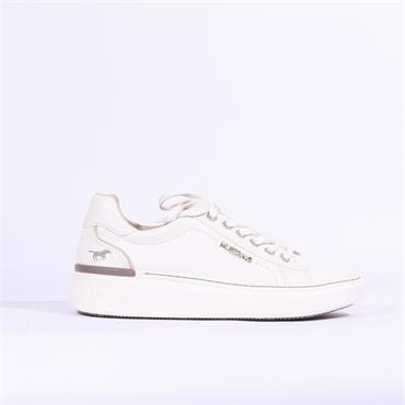 Mustang Laced Platform Trainer - White