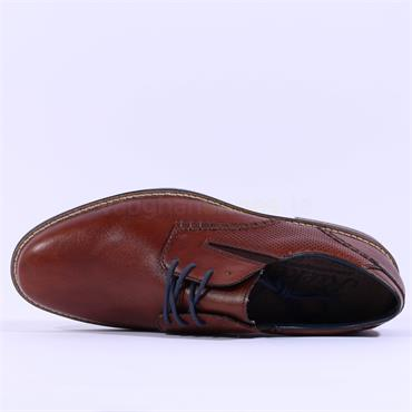 Rieker Men Laced Shoe - Brown Leather